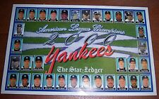 Yankees American League Champions 2000 Poster The Star Ledger Subway Series
