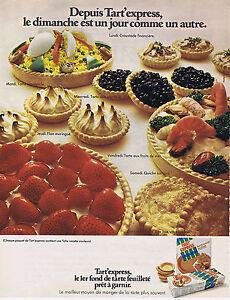 PUBLICITE ADVERTISING 064 1971 TART'EXPRESS fond de tarte feuilleté à garnir