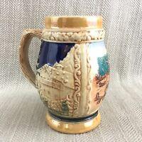 Vintage Tedesco Boccale Birra Cipriota Scene Cipro Ceramica Boccale Tazza