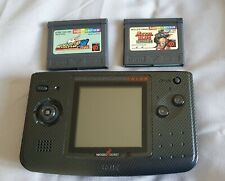Neo Geo Pocket Color Console Anthracite - SNK Good Condition - Plus 2 Games