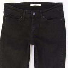 Ladies Womens Levis 714 STRAIGHT Stretch Black Jeans W28 L32 UK Size 8