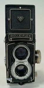 Vintage Rolleiflex T Model K8 T1 TLR Twin Lens Reflex Camera 1958-61 w/Case