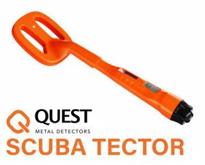 Quest Scuba Tector Orange Tauchen Metalldetektor Schatzsuche Suchgerät Detektor