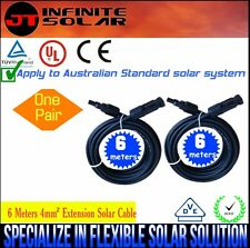 Ozseller@  2x 6 Meters TUV Approved 4mm2 Solar Panel Extension Cable *M+FM