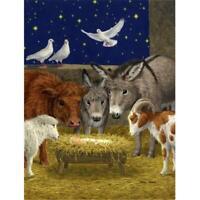 Carolines Treasures ASA2143GF Nativity Scene With Just Animals Flag Garden Size