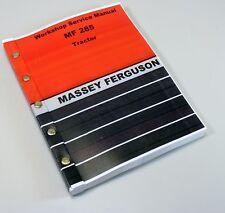 MASSEY FERGUSON 285 TRACTOR SERVICE REPAIR MANUAL TECHNICAL SHOP BOOK OVERHAUL