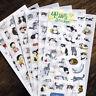 6× Katze Sammelalbum Tagebuch Planer Dekorative Sticker Set Kinder-Xmas!