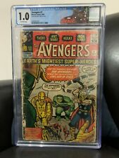 Avengers #1 1963 CGC 1.0 C/OW Pages Marvel Comics FIRST Appearance Avengers 9/63
