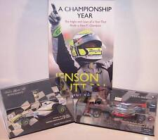 Minichamps 1:43 Jensen Button AGP 2009 Brawn GP001+ Book +AGP2010 McLaren MP4-25