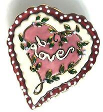 2003 Clayworks Cookie Stamp Heart Shape Love Heather Goldminc Blue Sky