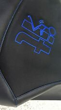 YAMAHA RAPTOR 660 GRIPPER seat cover  BLUE STICHING screw it logo
