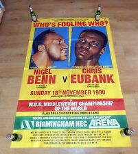 NIGEL BENN vs. CHRIS EUBANK (1) / Original ARENA Onsite Boxing Fight Poster