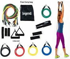 RESISTANCE BANDS SET11 PCS EXERCISE FITNESS ABS YOGA PILATES GYM WORKOUT