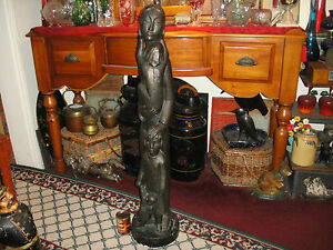 """Vintage Austin Productions 1966 Sculpture Signed Degroot Woman Children 45"""" Tall"""