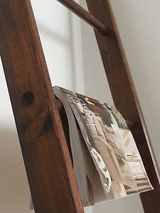 Classic Wooden Ladder for a Vintage Look, Bathroom, Bedroom, Hand Made