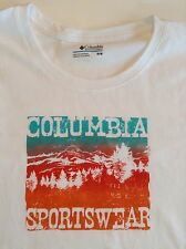 New Columbia Womens T-Shirt/Top Short Sleeve Old Timey Sign II Size M Cotton