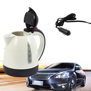 In-Car Kettle Electric 1000ML Capacity Portable 12V Camping Travel Water Bottle