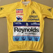 Reynolds Cycling Jersey Retro Road Pro Clothing Bike Short Sleeve Gear