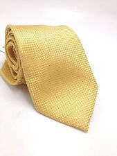$185 MICHAEL KORS Men`s YELLOW BLUE CHECK NECK TIE SKINNY DRESS NECKTIE 60x3.25