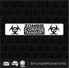 ZOMBIE CORPSE TRANSPORT Sticker Decal 400mmW Car Truck Ute Van Trailer 4x4 o)