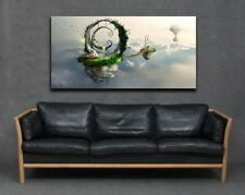 Bridge In The Sky Heaven Lady Clouds Fantasy Modern Large Canvas Print Wall Art