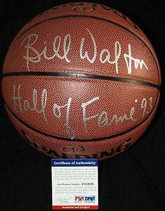 Bill Walton signed basketball, Celtics, UCLA, Trail Blazers, PSA/DNA Z35929