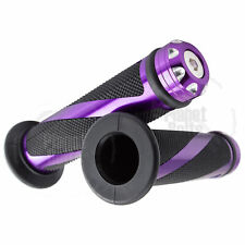 "Purple CNC Twist Hand Grip 7/8"" Universal Grippy Handle Bar 22mm Left Right"