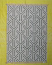 Geometric Wool Kilim Oriental Area Rug Hand Woven Morden Design 5'x7' Decorative