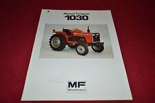 Massey Ferguson 1030 Tractor Dealer's Brochure MISC3
