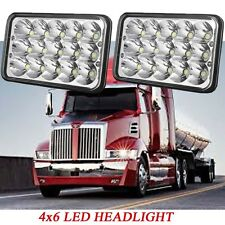 CREE 4X6 INCH Sealed H/L LED Headlight for Western Star Semi FREIGHTLINER Trucks