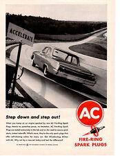 1962 CHEVROLET IMPALA / BISCAYNE / BEL AIR  ~  ORIGINAL AC SPARK PLUG AD