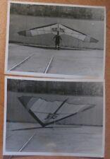 2 Real Photo Hang Glider Air Aviation Russian Soviet An Antonov Wing USSR Old