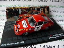 RIT40M voiture 1/43 IXO Altaya Rallye Italie : PORSCHE 911 S Monte carlo 1970