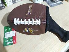 NFL Vikings DRIVER HEADCOVER  Golf Club Head Cover Football NEW !!!