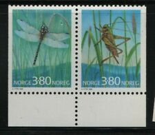 Norway Stamps 1998 SG1306-1307 Booklet Stamps Insects Unmounted Mint MNH