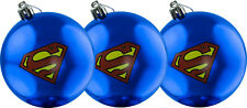 SUPERMAN - Logo Christmas Ornament / Bauble Set (3) by Ikon Collectables #NEW