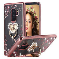 For Samsung Galaxy Diamond Secret Heart Ring Silicone TPU Case Bling Clear Cover