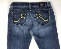 Rock & Republic Kasandra Womens Jeans Tag Size 28 Tall Actual 30x35 Splatter