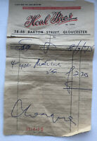 VINTAGE FABRIC RECEIPT FROM HEAL BROS BARTON STREET GLOUCESTER - 1975