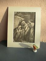 antique engraved illustration of Cinderella and Fairy Godmother circa  1890's