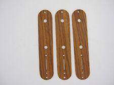 Custom Wooden Tele Control Plate Exotic wood - Red Zebrawood