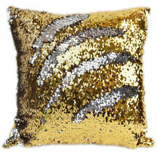 Sequin Glitter Pillow Case Cover Reversible Magic Stress Relief Gold & Silver