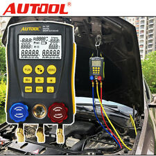 Digital Manifold Gauge Meter Pressure Temperature Vacuum Leak Tester HVAC System