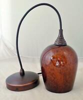 Art Glass Hanging Pendant Lamp Ceiling Light Chandelier Tortoise Shell Brown