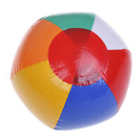 1Pc 15CM rainbow-color inflatable beach ball kid's water  IO J Hu