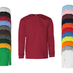 Gildan Herren T-Shirt ULTRA COTTON LONG SLEEVE T-SHIRT Langarm Neu G2400