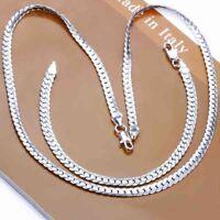 ASAMO Damen Herren Schmuckset Halskette Armband Sterling Silber plattiert SS1085