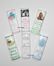 20 Personalised Baby Shower Chocolate Bar Wrappers  Favours, Posted 1st Class