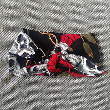Skeletots Bebé/niña rojo Skull & Rose Moño Diadema Goth Rock Punk Tatuaje Metal