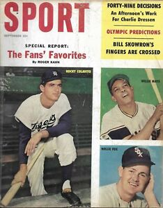 Vintage Sport Magazine, September 1960 issue, Willie Mays, Fox, Colavito cover